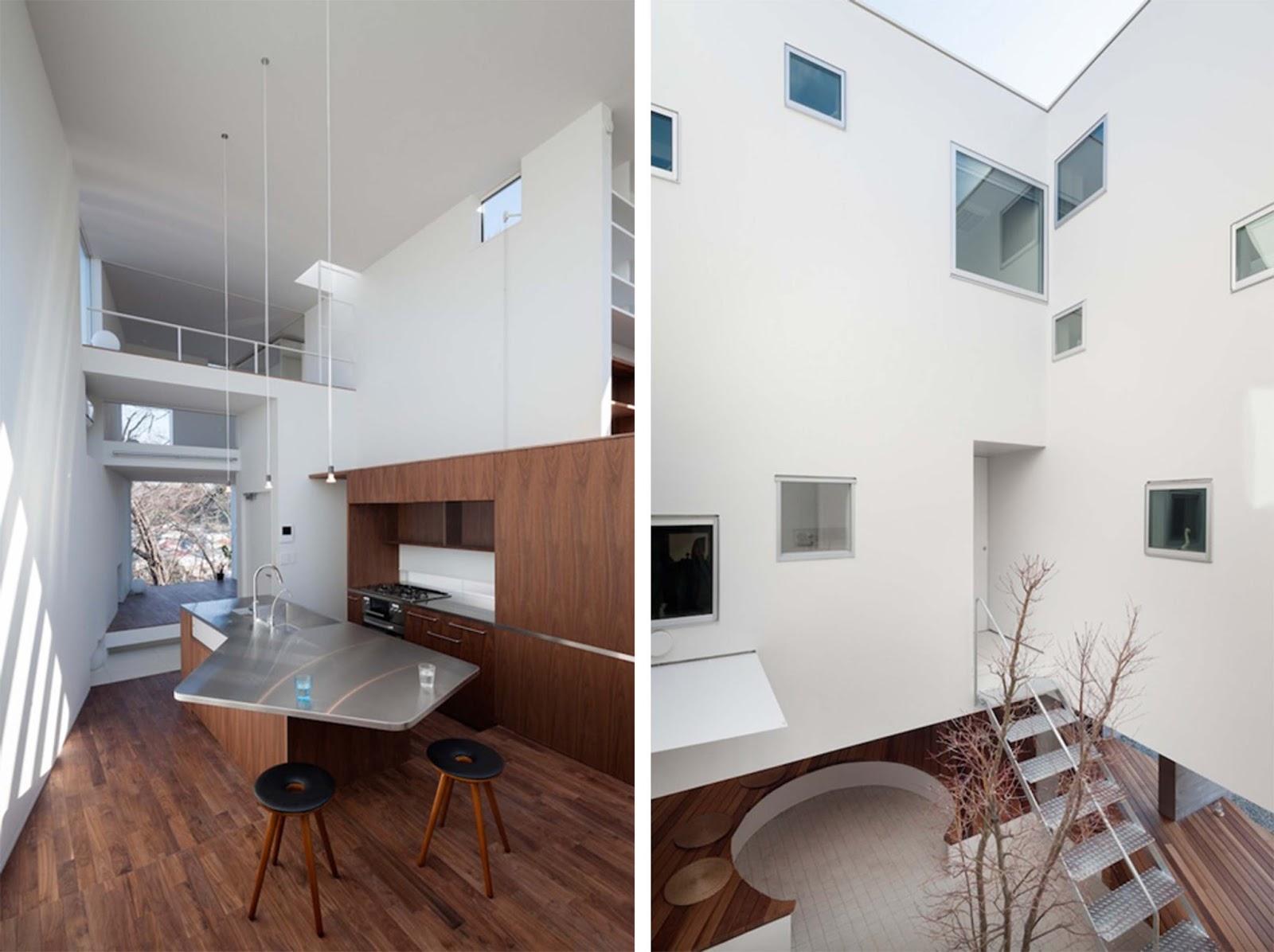Beyond The Hill House By Kazuhiko Kishimoto Dello Studio ACAA ARC  #38221C 1600 1196 Sala Da Pranzo All'ingresso