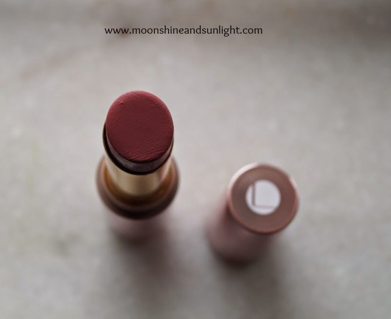 Lakme 9 to 5 lip color in Pink Slip swatch, review and price
