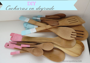 DIY cucharas en degrade