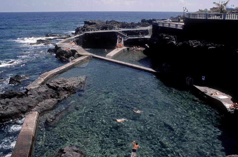 Aves en azul y verde la isla de la palma for Piscina sauces 6
