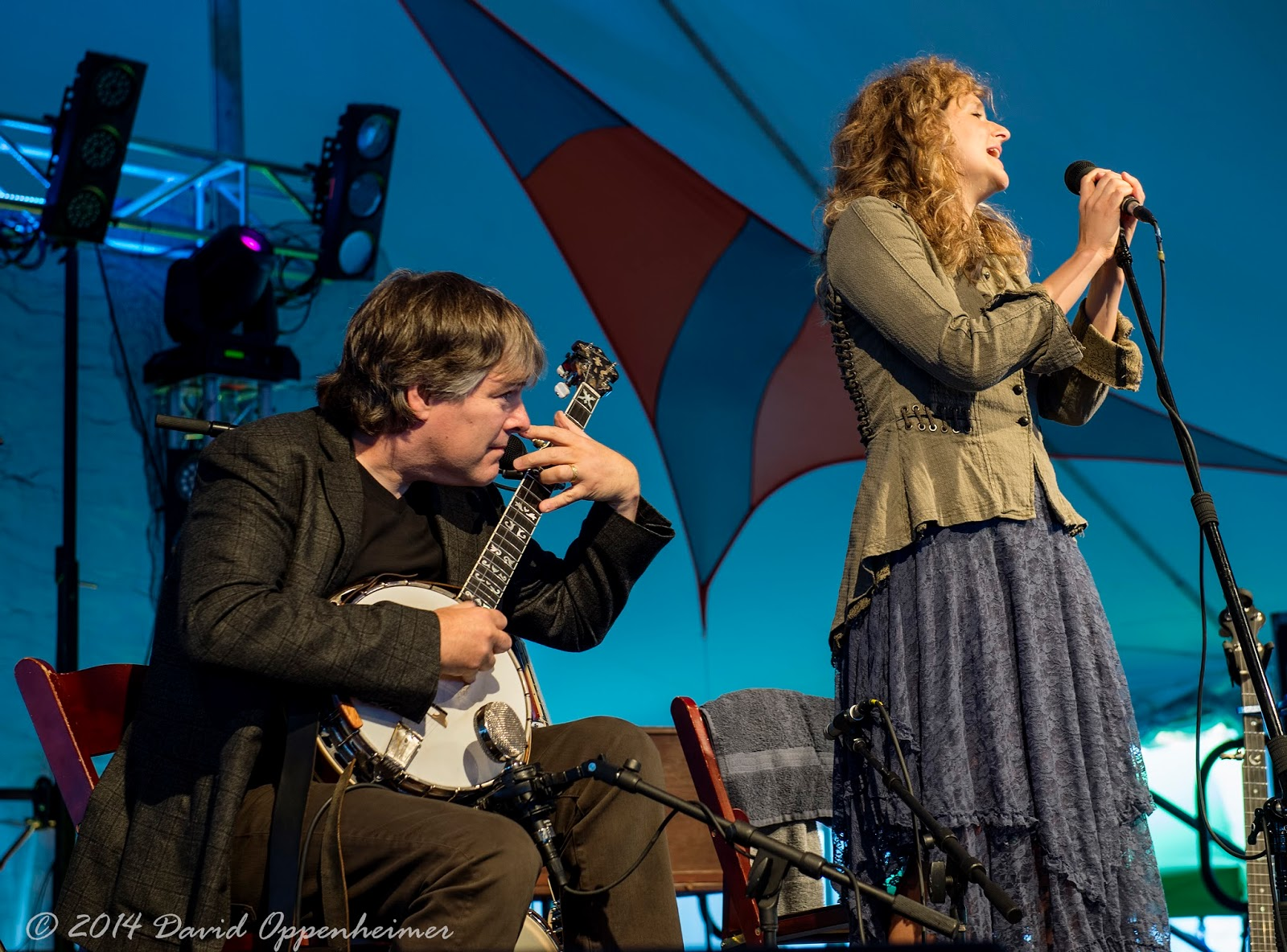 Bela Fleck and Abigal Washburn Performing at LEAF Festival