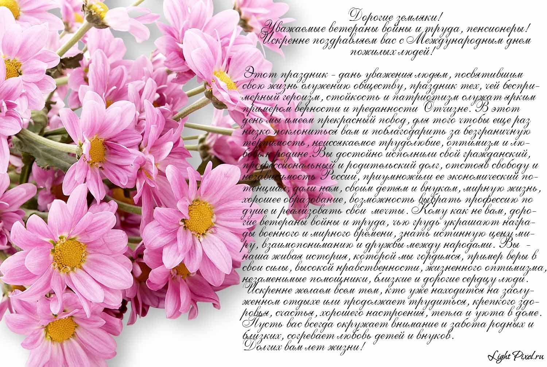 Поздравления на день пожилых женщинам
