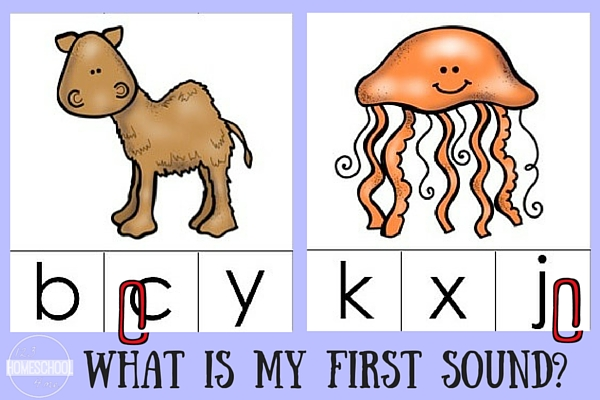 Working on beginning sounds is easy and fun with these free animal clip it cards!