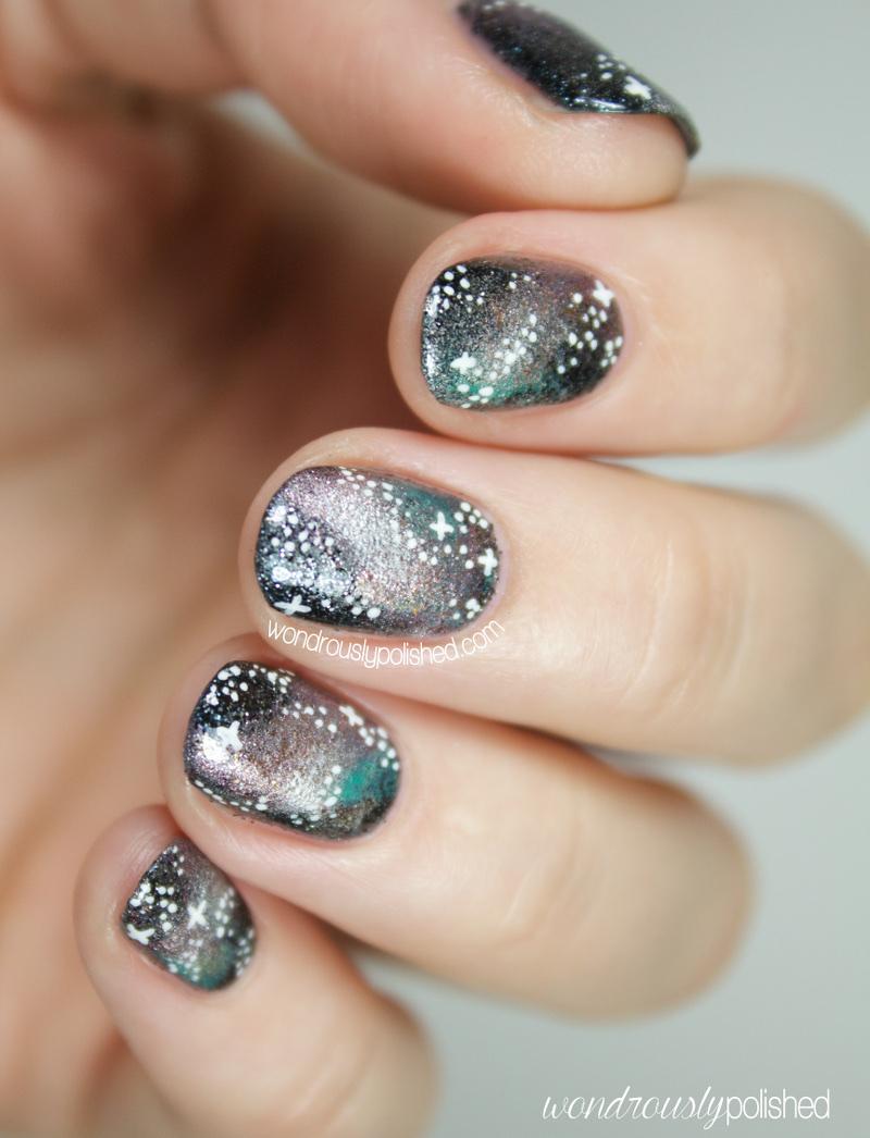 Wondrously Polished The Beauty Buffs Metallic Galaxy Nail Art