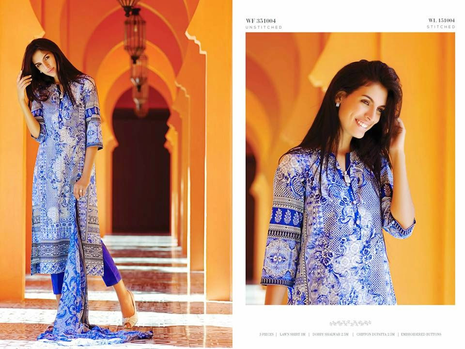 2015 pakistani fashion lawn dresses