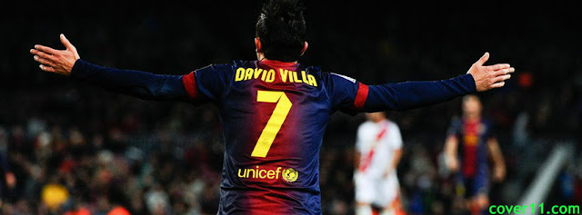 David Villa Barcelona Facebook Covers