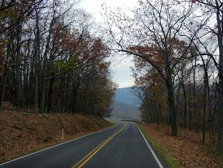 Driving on Skyline Drive in Shenandoah National Park