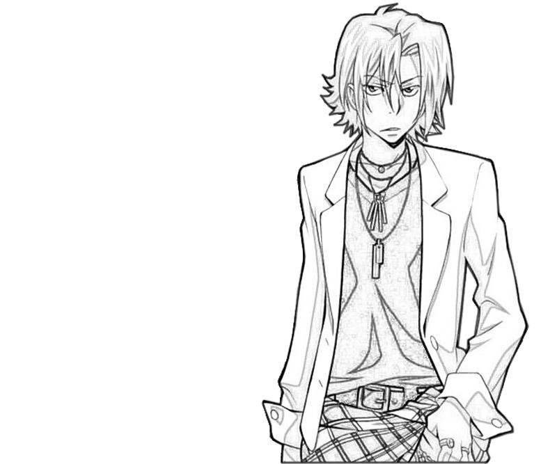 hayato-gokudera-character-coloring-pages