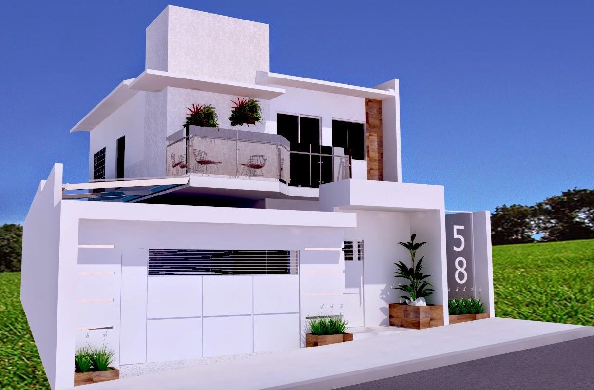 20 fachadas de casas modernas com muros e port es for Jazzghost casas modernas 9