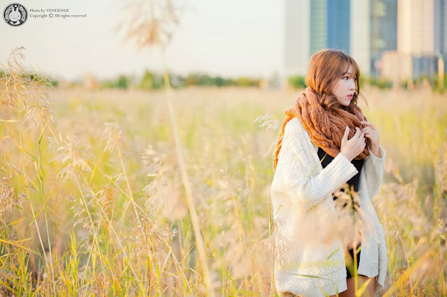 2 Lee Eun Hye in the sunset - very cute asian girl-girlcute4u.blogspot.com
