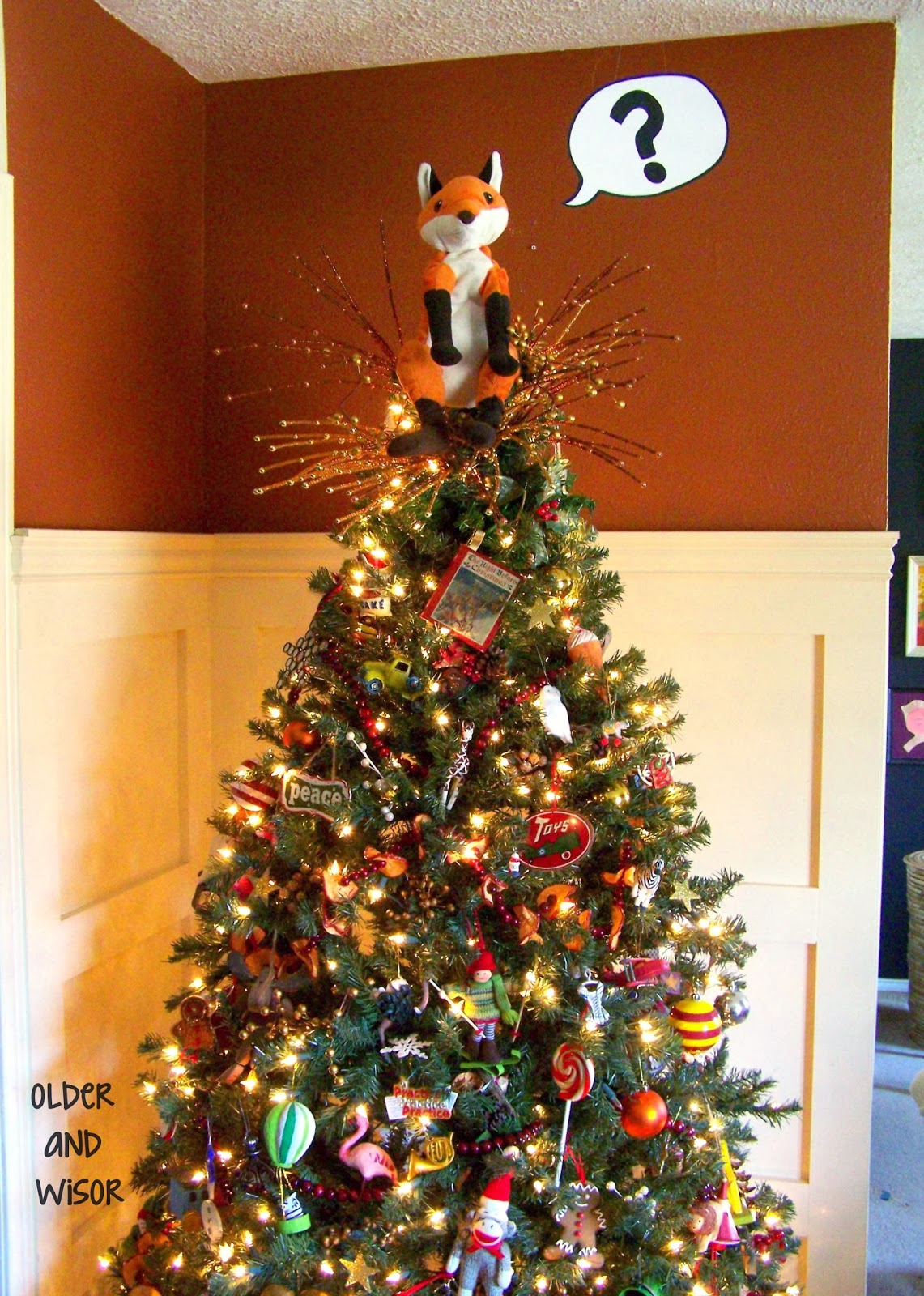 Older and wisor what does the fox say a christmas tree