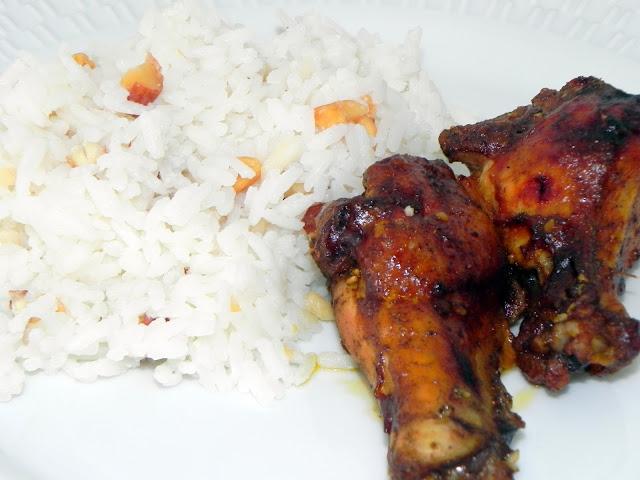 arroz jasmim castanhas leite coco