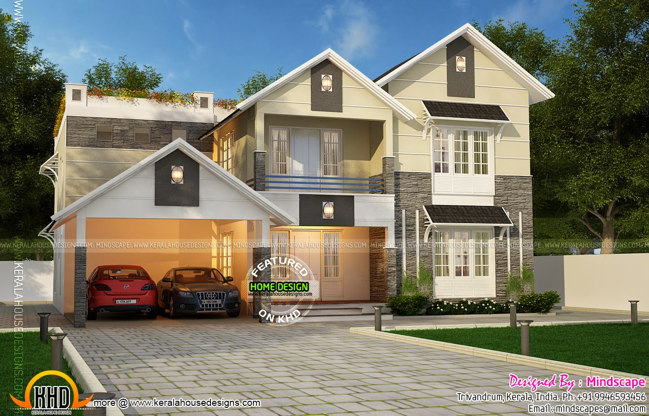 very beautiful home kerala home design and floor plans