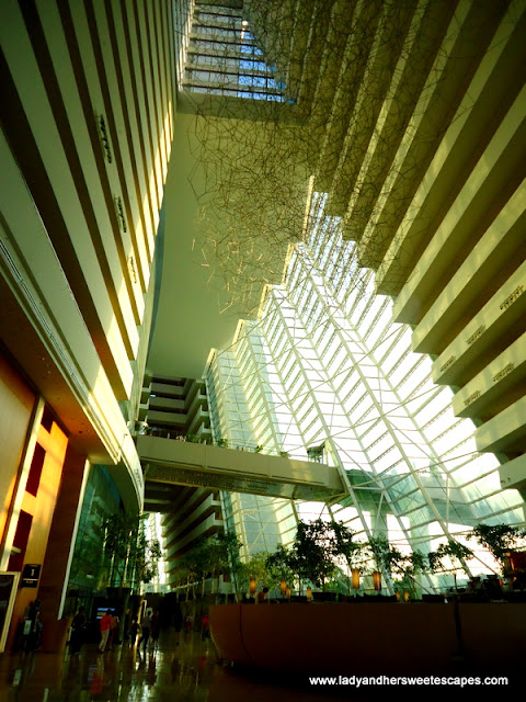 great interiors of Marina Bay Sands Skypark