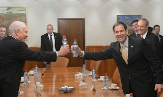 Benjamin Netanyahu and Marco Rubio