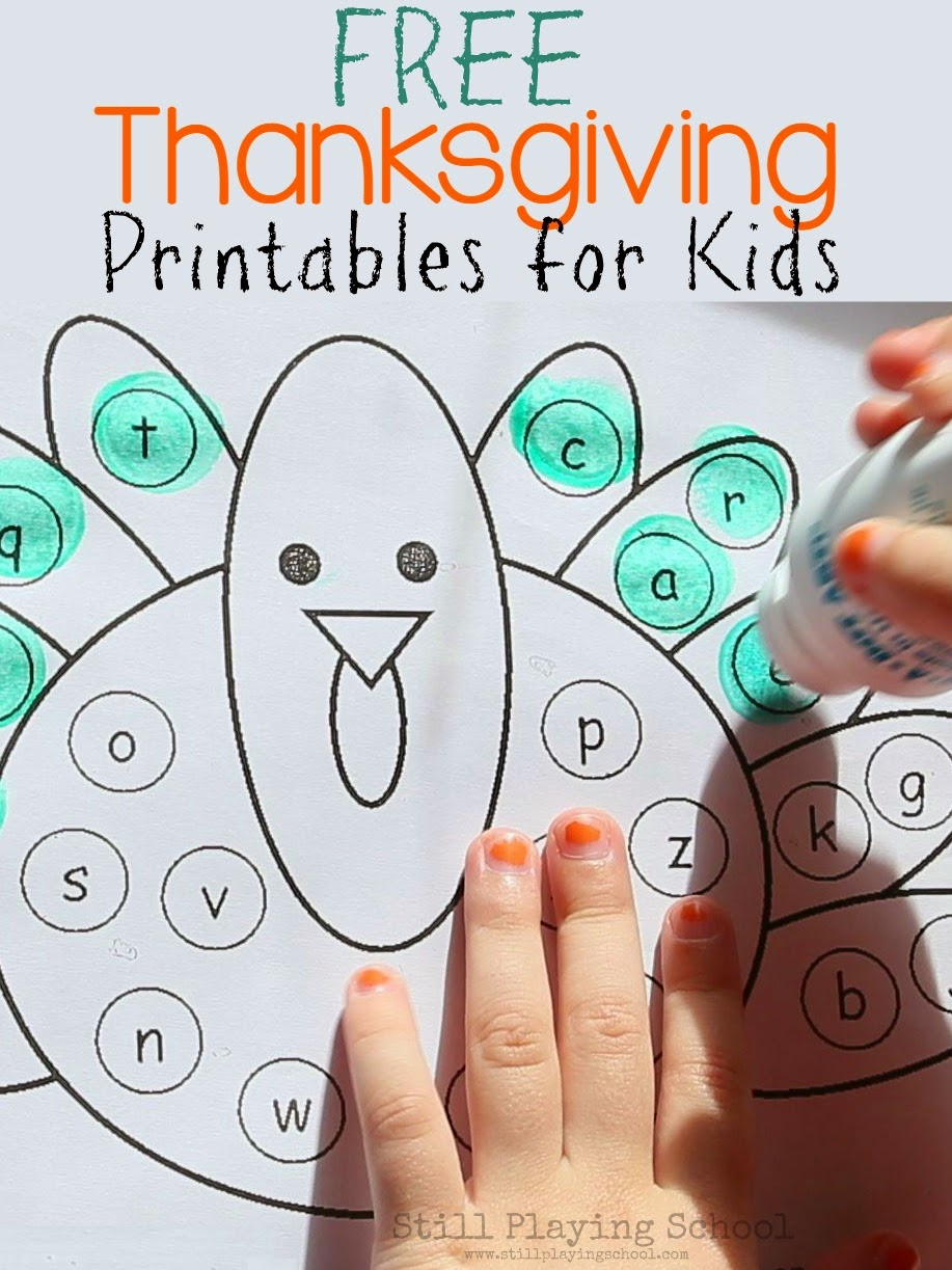 Free Thanksgiving Printables and Activities for Kids | Still Playing ...