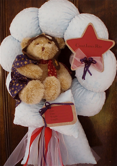"89. custom ""chief pilot baby wreath"""