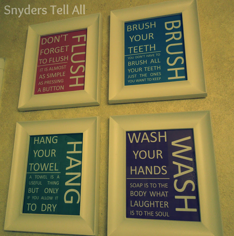 Snyders Tell All: DIY: Cheap Bathroom Decor
