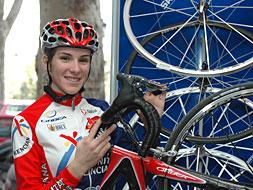 La ciclista Valencia Anna Sanchis