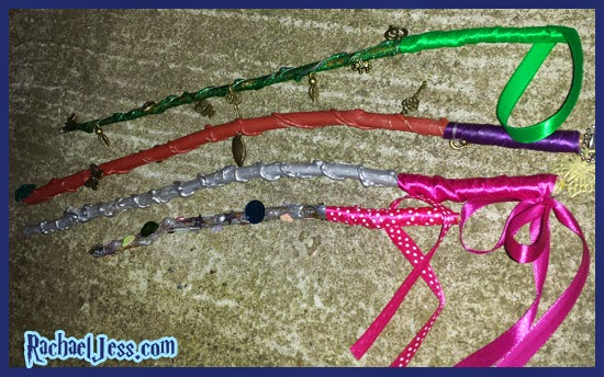 Creating Wands with Bostik Glue dots