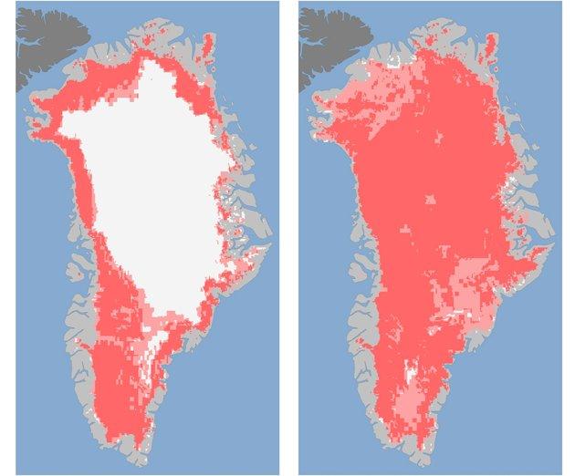 Lapisan Es Di Greenland Mencair Sampai 97 Persen Dalam 4 Hari [ www.BlogApaAja.com ]