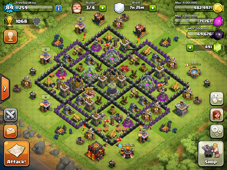 Free Apps King Clash Of Clans Village Level 84