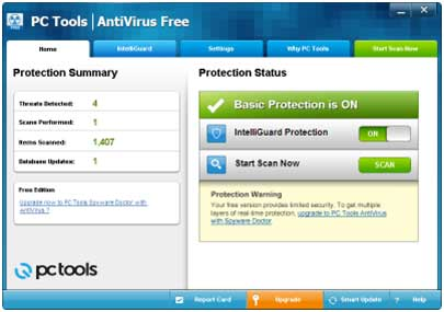 PC Tools Free Antivirus software