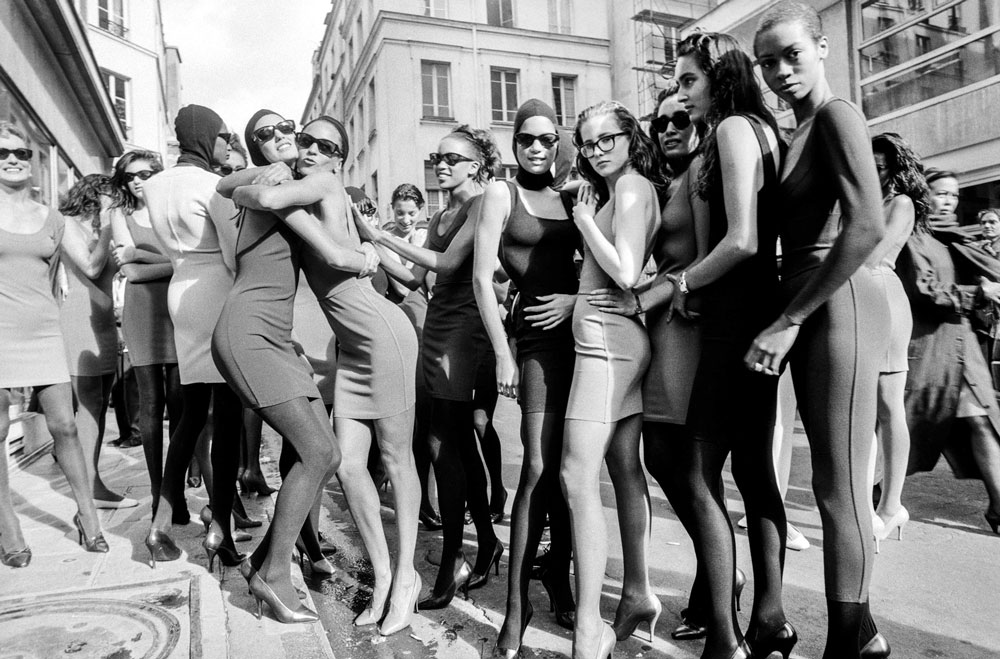 models after the Alaia show in 1986 photographed by Arthur Elgor