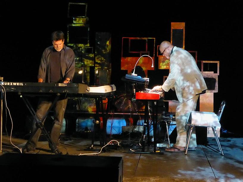 Tim Story & Hans Joachim Roedelius live @ More Ohr Less Festival 2014 / photo S. Mazars
