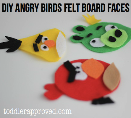 Toddler Approved DIY Angry Birds Felt Board Faces Free Pattern Part 1