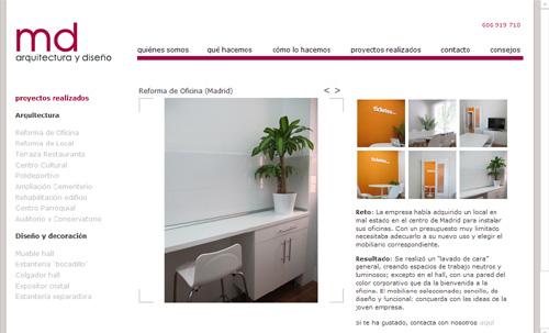 Web m nica diago arquitectura dise o interiorismo - Paginas de interiorismo ...