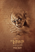 the hobbit andy serkis gollum imax poster