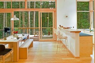 Modern prefab cabin