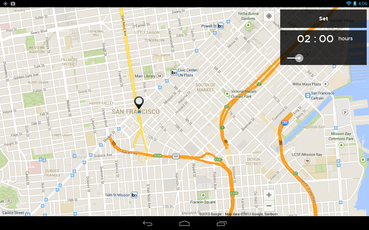Valet Car Locator en android