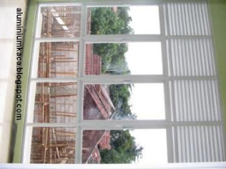 Kusen Jendela Aluminium Kisi-samping