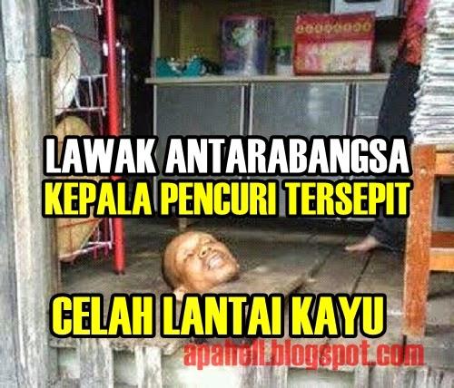 Kepala Pencuri Tersepit Celah Lantai Kayu di Dungun (3 Gambar) http://apahell.blogspot.com/