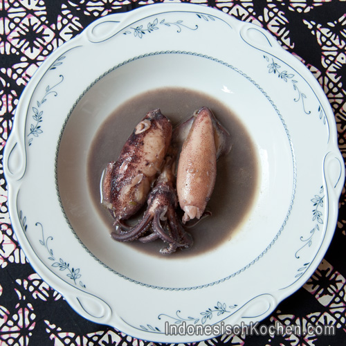 Tintenfisch Schwarze Soße indonesisch Rezept