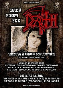 Back from the Death Tributo a Chuck Schuldiner en Bilbao y Zarauz en diciembre