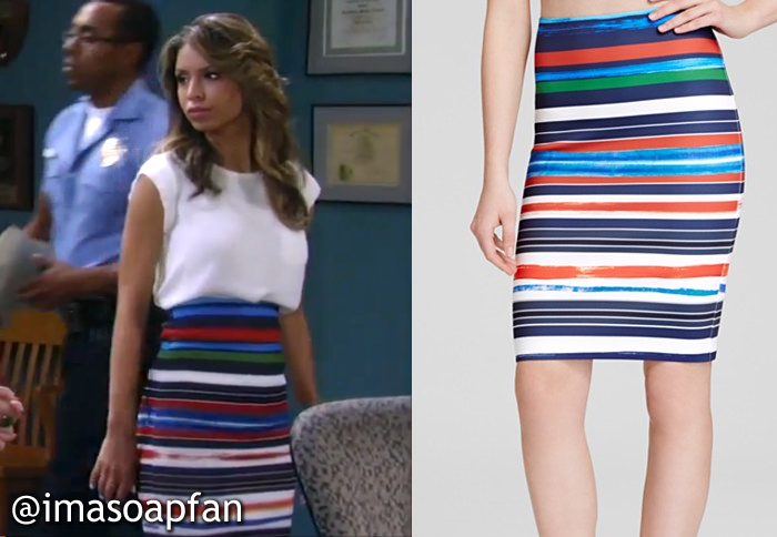 Valerie Spencer's Multicolored Striped Pencil Skirt - General ...