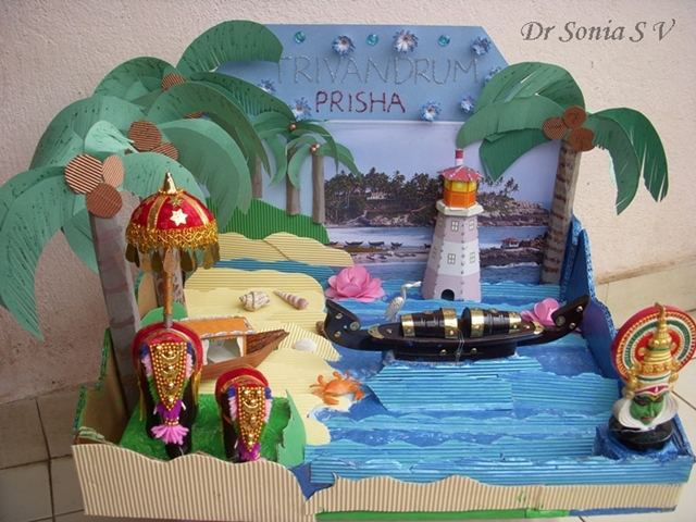 Cards Crafts Kids Projects Diorama Kerala India