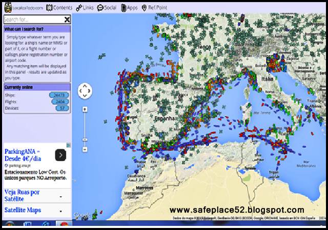Localizador  Embarcações e Aviação