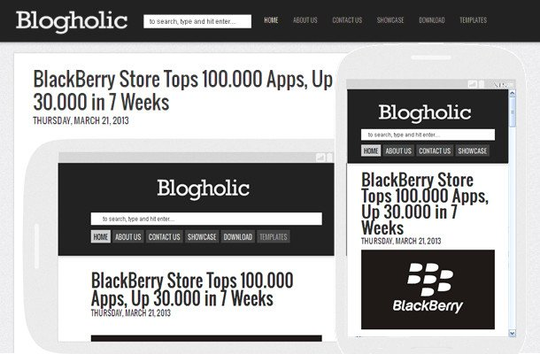 2 Column Bloger Templates Blogholic - Simple Responsive 2 Column Blogger Template free download full version