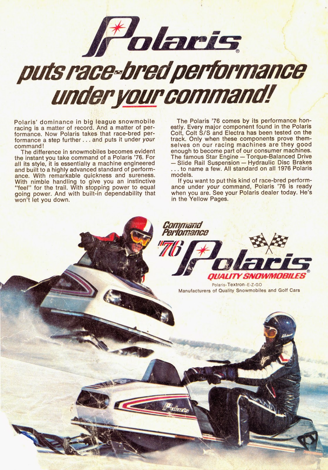 Classic Snowmobiles Of The Past 1976 Polaris Snowmobile