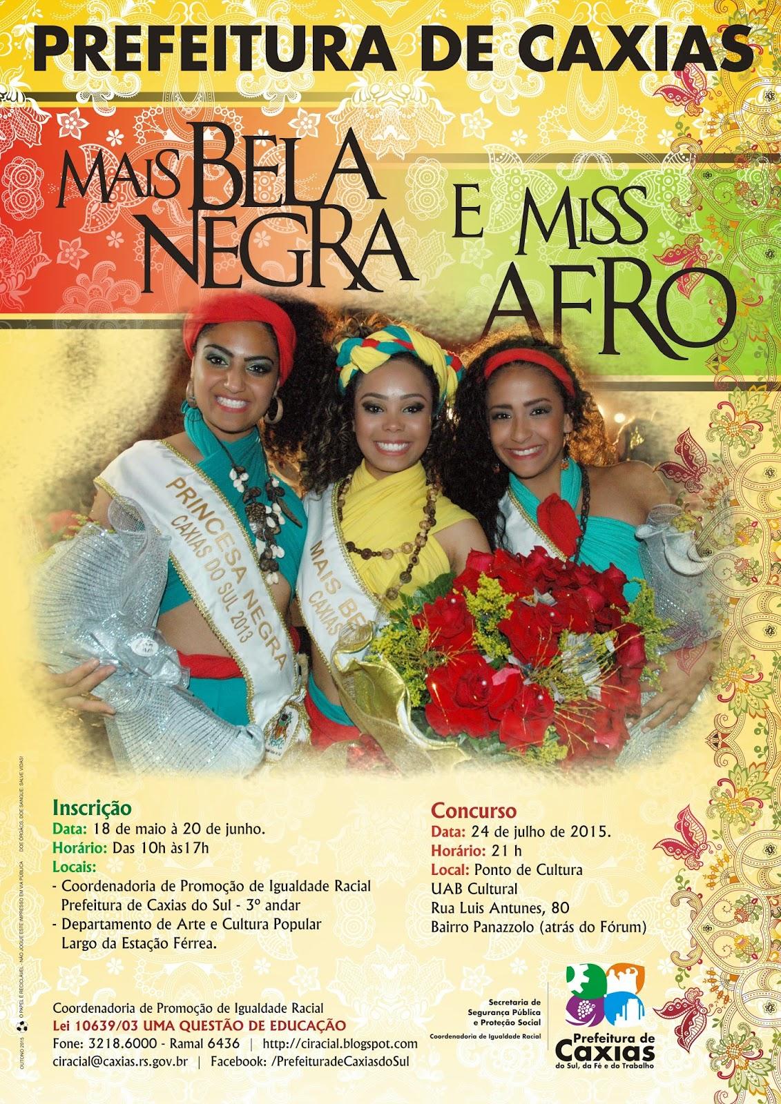 Concurso 2015 Mais Bela Negra e Miss Afro