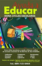 """""""Ayuda a Educar"""" Dona Útiles Escolares"""