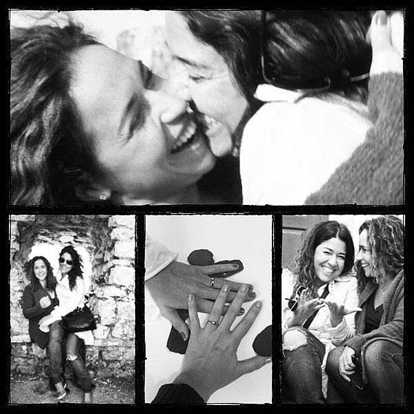 """Daniela ao lado de Malu: """"minha esposa, minha família"""", disse a cantora (Foto: Reprodução/Instagram)"""