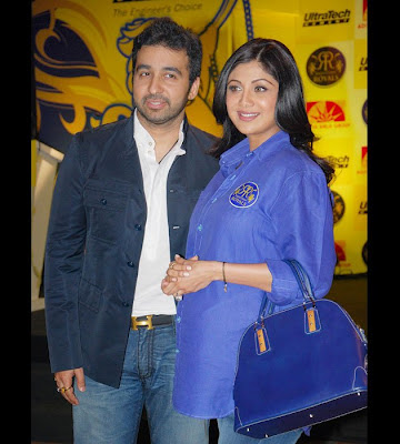 Shilpa Shetty with Raj