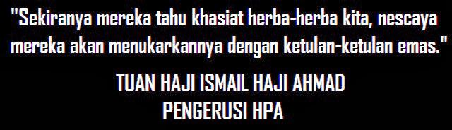 :: KATA-MADAH PENGERUSI HPA ::