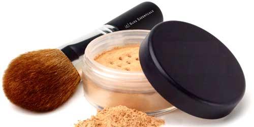 polvos maquillaje piel grasa