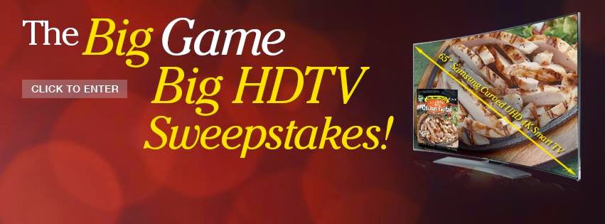 Enter the John Soules Foods HDTV Big Game Sweepstakes. Ends 1/26.